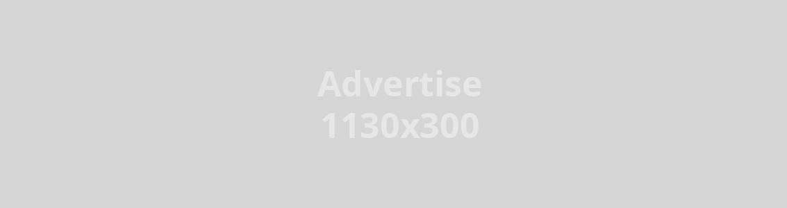Annonse 1130 x 300 px, kr. 6 000,- pr måned