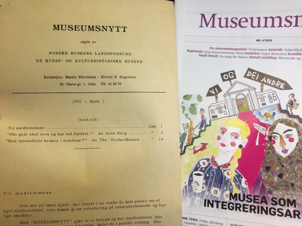 Museumsnytt i 1951 og 2016