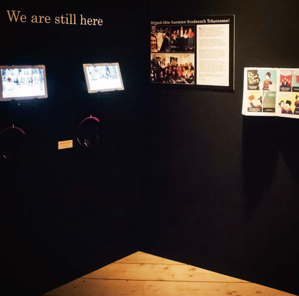 """SPENSTIG: """"We are still here"""" er den spenstigste delen av utstillingen og skiller seg fra resten både form- og innholdsmessig. FOTO: Jens-A. Remmen Wiken/Helgeland museum"""
