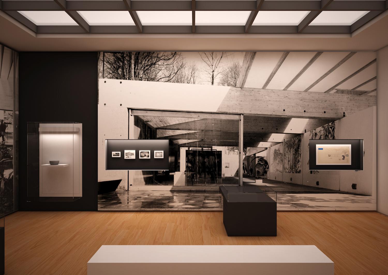 SVERRE FEHN: Rom 77 viser tre viktige verk av arkitekt Sverre Fehn rundt 1960. FOTO: GUICCIANDARDINI/MAGNI ARCHITETTI / CONCEPT DESIGN