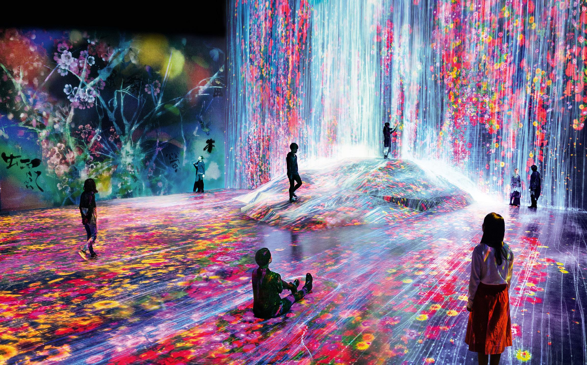 DIGITALT: Frå det nyopna Digital Arts Museum i Tokyo. Foto: teamlab