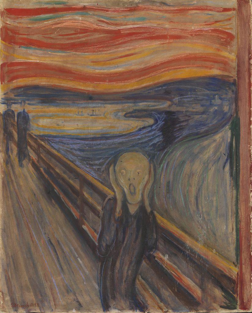 STJÅLET TO GANGER: Munchs «Skrik» ble stjålet fra Nasjonalgalleriet i 1994 og fra Munch-museet i 2004. Foto: Nasjonalmuseet for kunst, arkitektur og design, Oslo © Munch-museet / Munch-Ellingsen Gruppen / BONO, Oslo 2013. Foto: ©Nasjonalmuseet / Børre Høstland