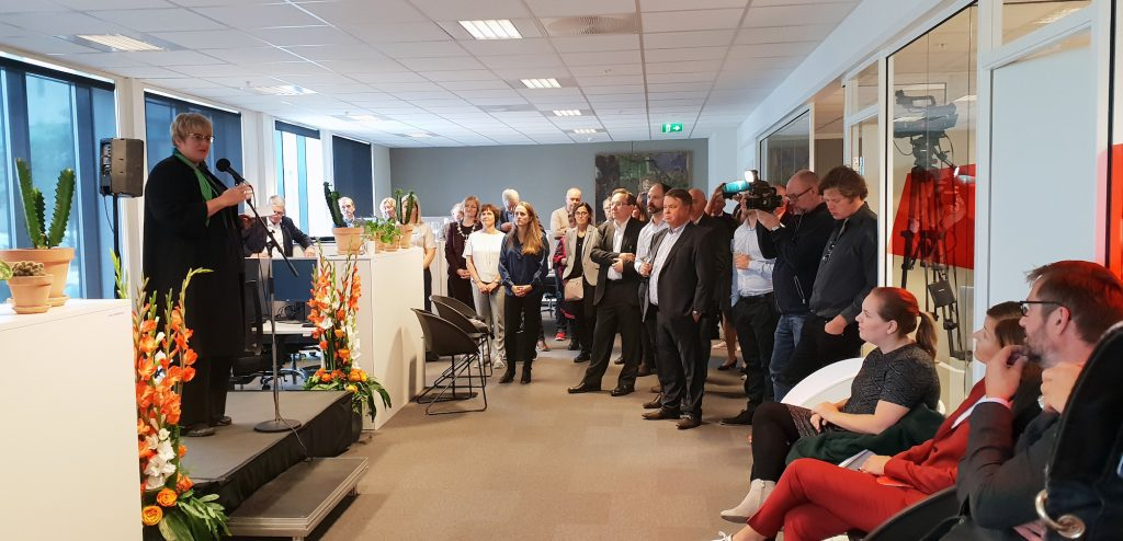 ÅPNING I BODØ: Kulturrådets museumsseksjon avdeling Bodø blei høgtideleg åpna av kulturminister Trine Skei Grande 4. september i fjor. FOTO: Kulturrådet