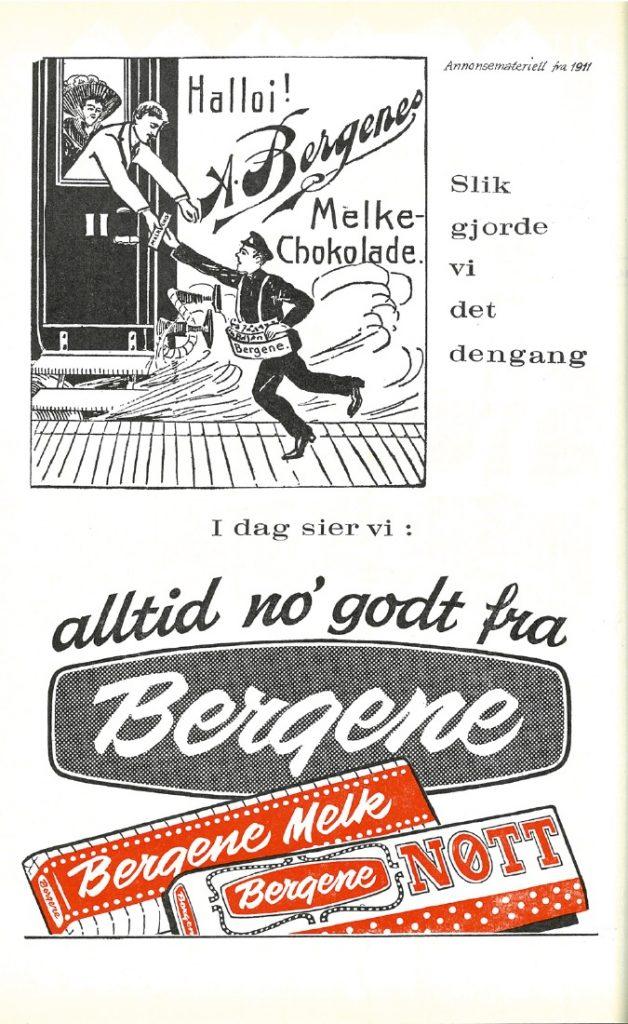 SJOKOLADEHISTORIE: Bergenes sjokoladehistorie strekker seg over 100 år. Arkivsamlingen byr på en rekke nostalgiske minner, som dette fra 1962.