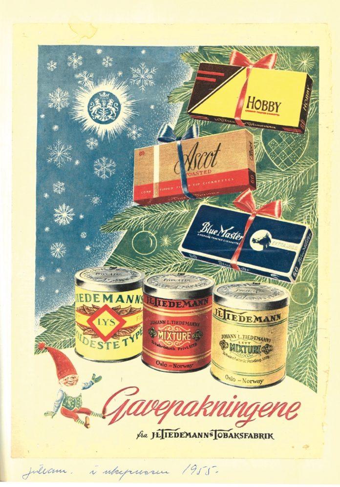 TOBAKKSREKLAME:Markedsføringen fra J.L. Tiedemanns Tobaksfabrikk på 1950-tallet