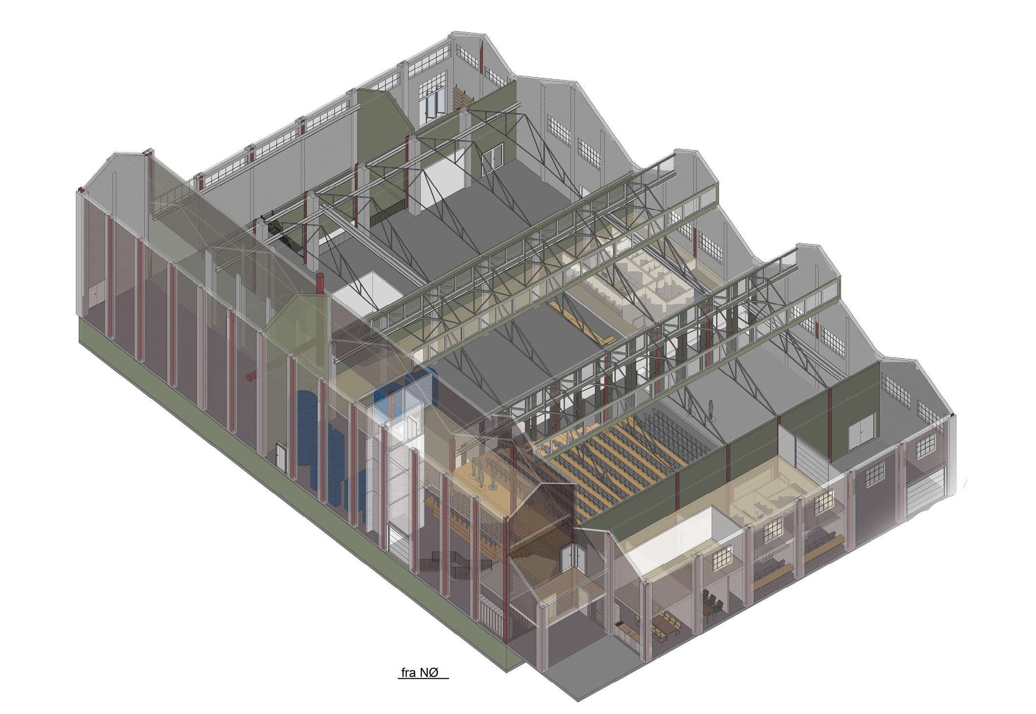 Arkitektillustrasjon av bygning