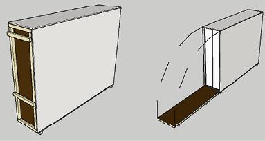 Tegning av flyttekasse