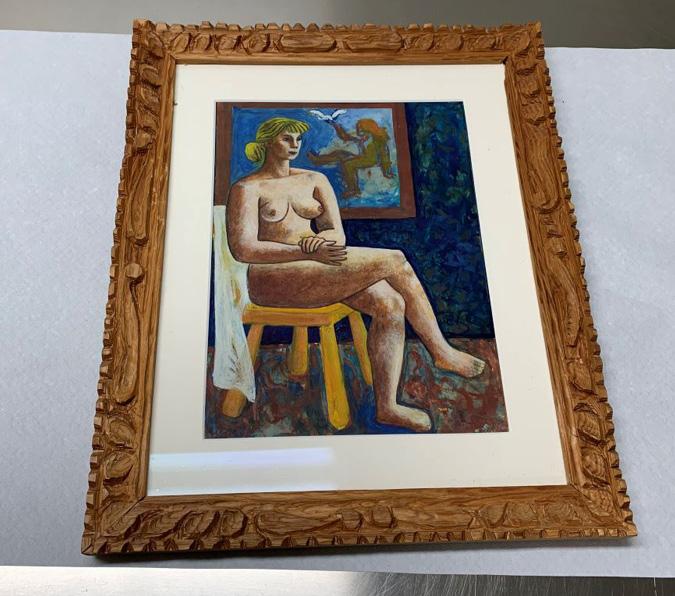 Akt-maleri av Bror Hjort
