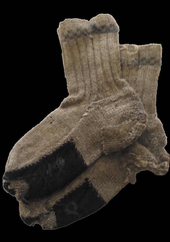 Et raggete sokkepar