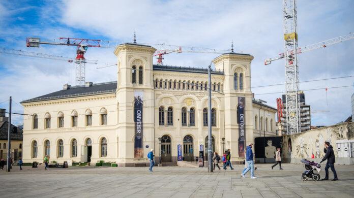 Fasaden til Nobels Fredssenter på gamle Vestbanen